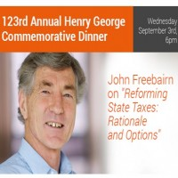 Come along to the 123rd Henry George dinner