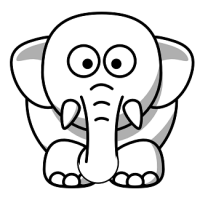 elephant-clipart-black-and-white-13285-cartoon-elephant-clip-art-design-200x200
