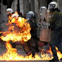 Greece chooses violence