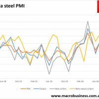 China steel PMI solid