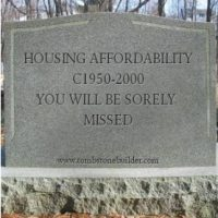 The death of Australian housing affordability