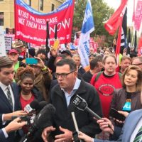 Unions declare wages war on Andrews Government
