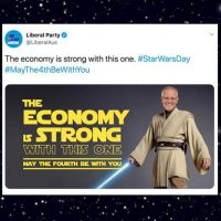 The economy is strong with this one…not