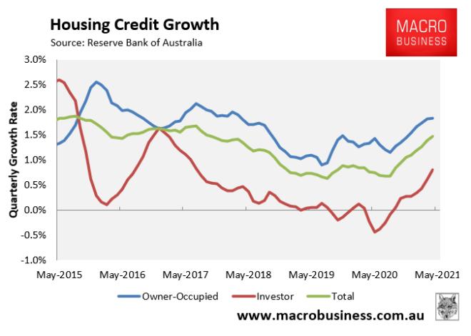 RBA quarterly mortgage growth